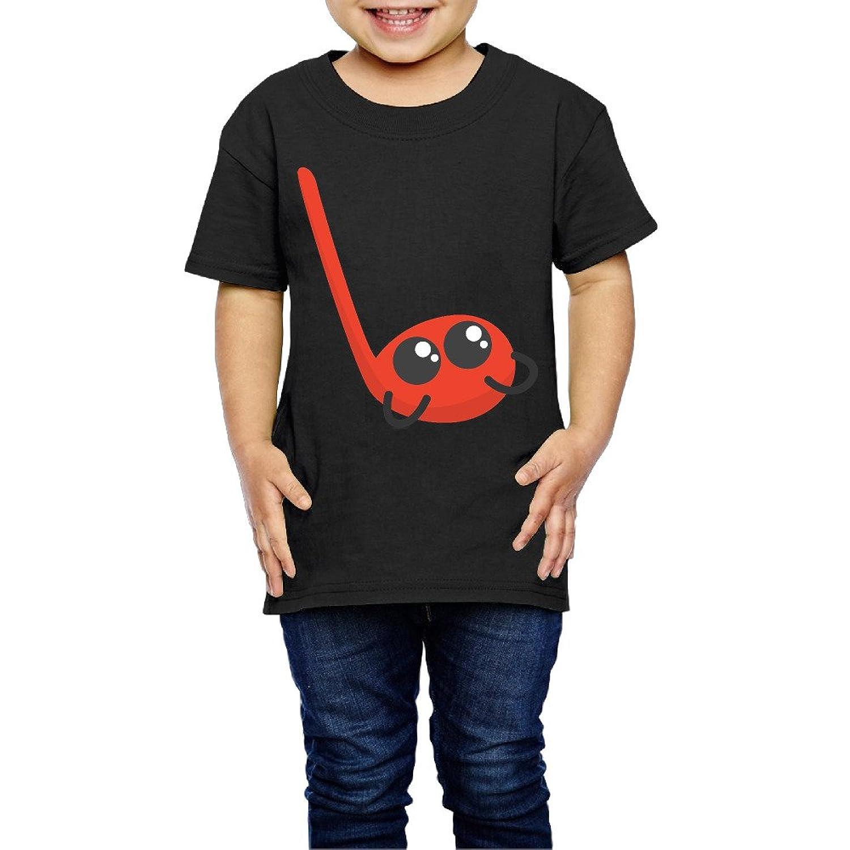 かわいい音符 子供服 キッズ 半袖 Tシャツ 綿100% 5-6 Toddler