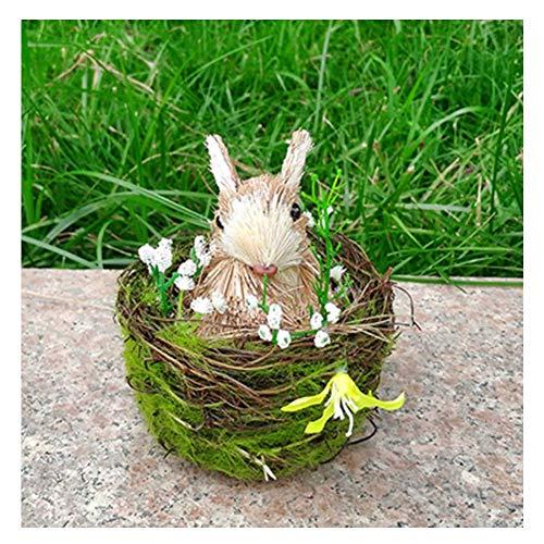 LIUSHI Estatua de Conejito de Pascua, Conejos Que Incluyen Nido de Conejo Accesorios de decoracin de Fiesta de Pascua Regalos de cumpleaos de Vacaciones Oficina Dormitorio Restaurante Decoracin