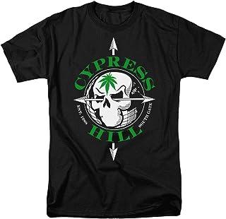 Cypress Hill Skull and Marijuana Leaf Logo T Shirt & Stickers
