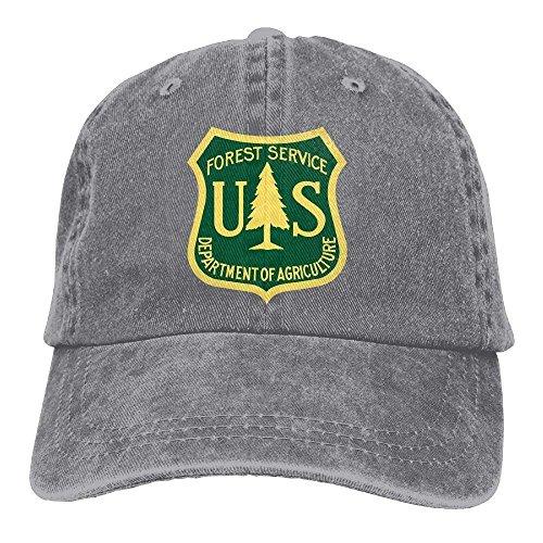 Hombre Mujer Gorras de béisbol, US Forest Service Flag Adjustable Baseball Caps Denim Hats Cowboy Sport Outdoor