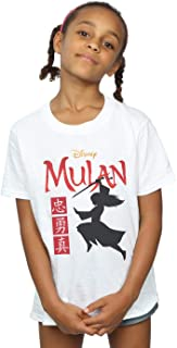 Disney Girls Mulan Movie Warrior Silhouette T-Shirt