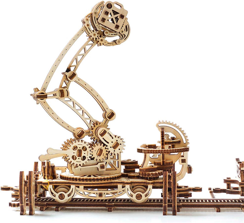EP-Toy 3D laserschneiden Holz Modell, kreative orbitalen mechanische arm mechanische Modell, Erwachsene Kinder DIY Spielzeug (15,8 × 19,7  × 8,3 )