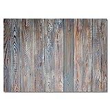 100 manteles de mesa shabby-chic con aspecto de madera I DIN A3 rectangular I salvamanteles de papel en marrón azul, moderno | desechable máteles de mesa individuales I dv_319