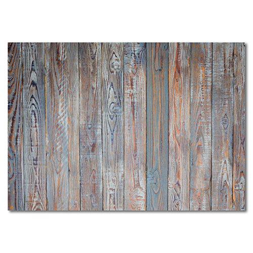 100 Tischunterlagen in shabby-chic Holz-Optik I DIN A3 eckig I Platzset aus Papier in braun blau, modern I Einweg Tischset I dv_333