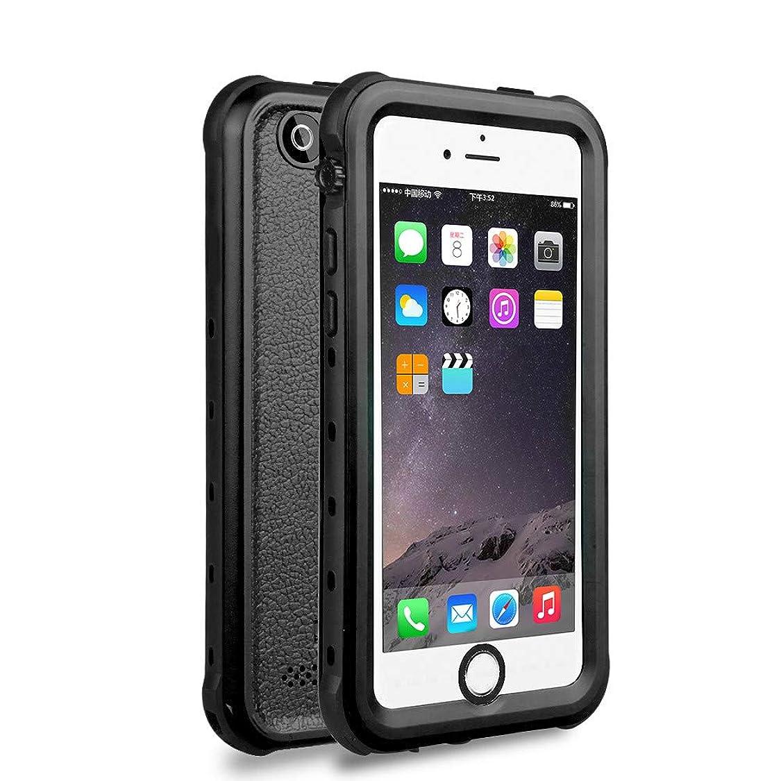 iPhone5/5s/SE 防水ケース DINGXIN 指紋認証対応 防水 防雪 防塵 耐震 耐衝撃 IP68防水規格 アイフォン5s フォンケース5 フォンケースse 防水ケース 防水カバー ストラップホール付き (iPhone5/5s/SSE, 黒)