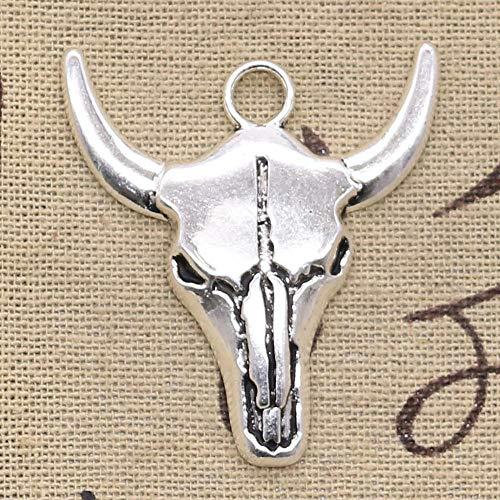 WANM Schmuckzubehör Charms 3 Stück Bull Skull 41X38Mm Fit DIY Schmuck Basteln Herstellung