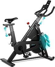 دوچرخه چرخش ثابت OVICX با دوچرخه ورزشی با مقاومت مغناطیسی دوچرخه دوچرخه سواری داخل سالن صندلی راحتی راحت قابل تنظیم و فرمان برای تمرین قلب در منزل