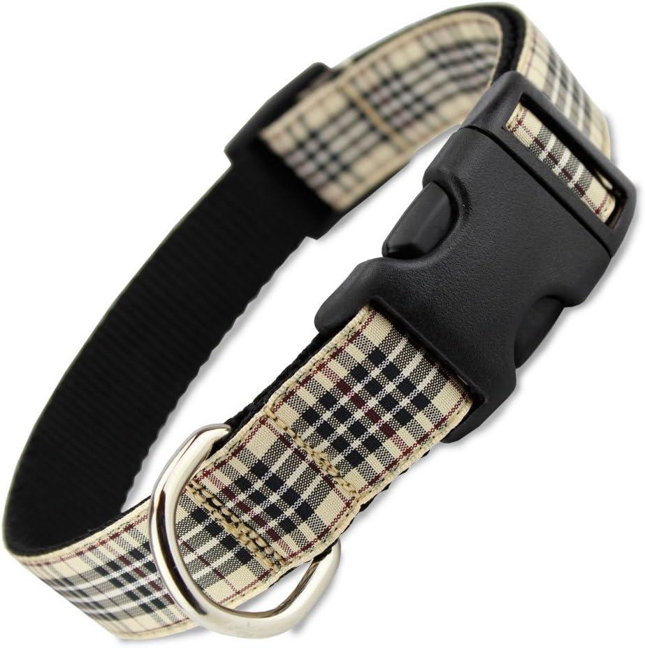 Max 84% OFF London Furberry Plaid Dog Many popular brands Collar Scottish Black Berry Tan Ta