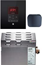 Mr Steam - Steam Bath Generator Package in Square Black Finish with Free Aroma Five Sampler Pack (10 KW MS-Super1-E)