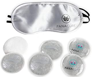 Hot Cold Pack, Set of 6 - Reusable Gel Ice Packs with Eye Mask - Multipurpose Pain Relievers for Neck, Shoulder, Knee, or Elbow - Heated and Cooling Therapies for Aches and Pains