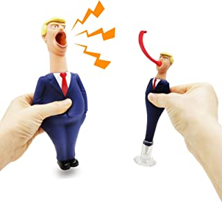 Donald Trump Squeeze Screaming Toys, Trump Figure Doll Set, Squeaky Squawking Trump & Roll Tongue Trump Ballpoint Pen, Nov...