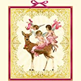 Engeltrio mit Weihnachtsreh: Adventskalender