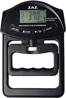 ZAZ デジタル握力計 電池付 家庭用 デジタルハンドグリップ 握力 握力計 カラー:ブラック