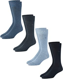 Men's Dress Socks – Lightweight Cotton Crew Socks (4 Pack)