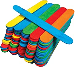 50 Jumbo Wooden Craft Lollipop Sticks Colours Mixed Giant Lolly Sticks Bright Coloured Primary School Supplies Garden Plan...