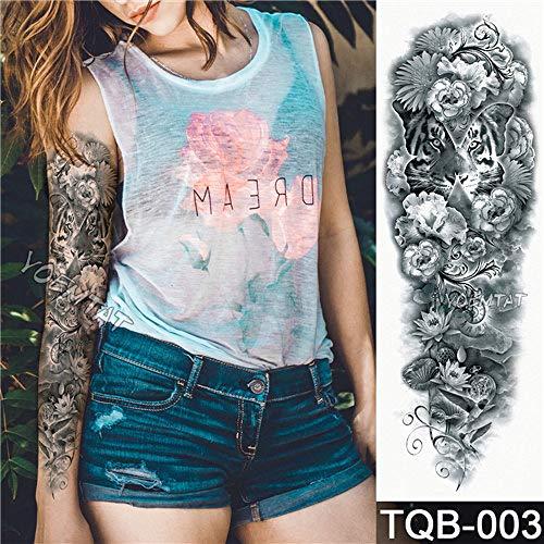 Baobaoshop 3 Piezas Flor Completa Brazo Tatuaje Pegatina