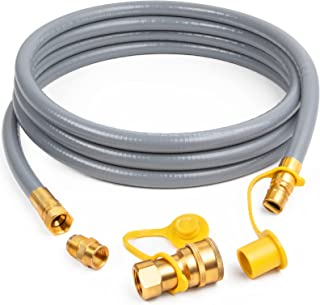 SHINESTAR 1/2-Inch Natural Gas Hose (12-Foot) with Quick Connect Fitting, Propane to Natural Gas Conversion Kit, Perfect f...
