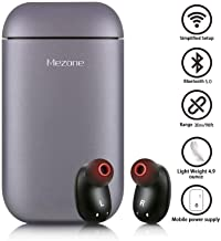 Mezone Wireless Earbuds, Wireless Headphones Bluetooth Earbuds Sports Headphones with Mic and Charging Case (Can Also be Used as Power Bank) Compatible with iPhone and Android Smart Phones (Grey)