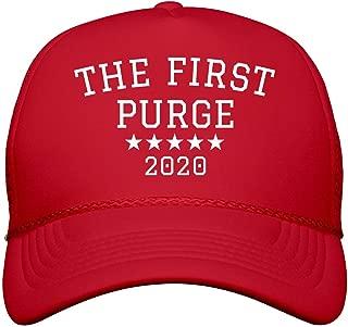 America's First Purge Parody Hat: Snapback Trucker Hat