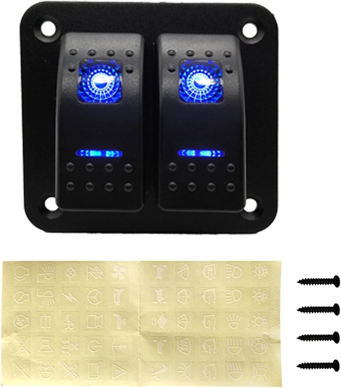Home Improvement Hardware 2 Gang Switch Max 42% lowest price OFF 12-24V Rocker Panel LED