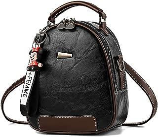Bageek Fashion Vintage Top Handle Shoulder Purse Decor Mini Backpack Crossbody Bag for Women