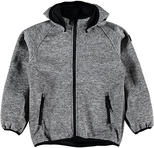 name it Strick Softshell Jacke 13135767 NITBeta Knit Softshell Jacket in Black schwarz-grau Gr. 140