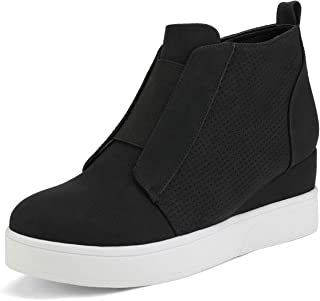 DREAM PAIRS Girl's Ankle Boot Wedge-Snkr-1K