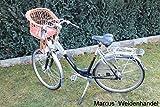 Marcus Kinderfahrradsitz Fahrradsitz vorne gepolsterten festen Kissen Korb Lenkerkorb Weidenkorb Fahrradkorb Weide
