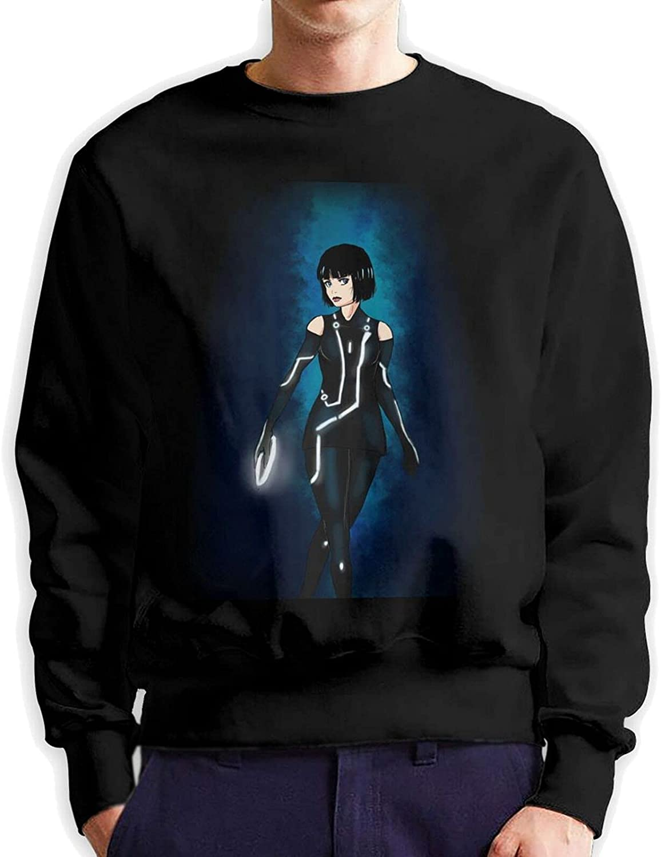 Tron Mens Long Sleeve Printed Sweatershirt Cotton Black