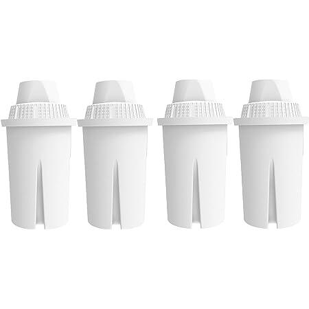 AquaHouse AH-PBC 4Filtres de rechange pour Brita Classic, Kenwood, Boots et autres carafes d'eau filtrantes