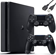SonyPlayStation4PS41TBSlimGamingConsole-Controller SkinHolidayBundle+DelcaUSBExtension