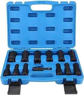 ROSEBEAR 13 stycken 1/2 tums bilreparationsdrift lång Inbus-insex verktygssats 8–24 mm