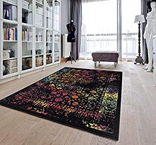 Persian-Rugs 6495 Distressed Multi 5x7 Area Rug Carpet Large New