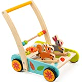 cossy Wooden Baby Learning Walker Toddler Toys for 1 Year Old Rabbit and Roll Cart Push and Pull Toycossy Wooden Baby Learning Walker Toddler Toys for 1 Ye… ...