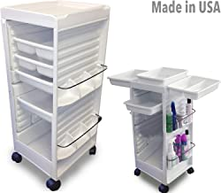 N20E HF Aesthetician Roll-About Facial Cart Trolley White Non Locking Made in USA by Dina Meri