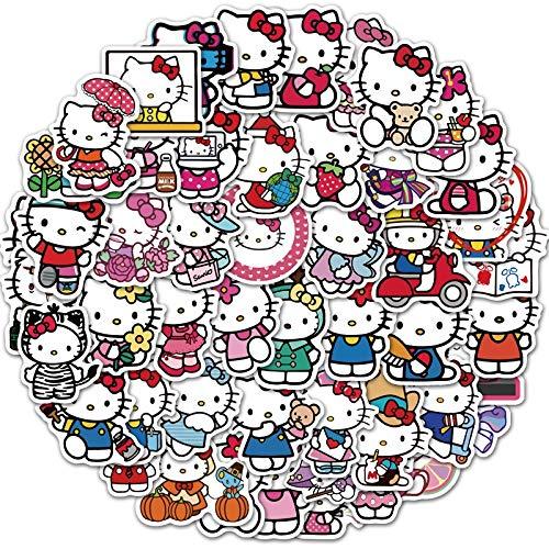 Linda etiqueta engomada del Hello Kitty del ordenador portátil del monopatín del agua de la taza de las pegatinas del refrigerador del coche de la motocicleta del PVC de los niños