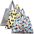 Reusable Shopping Bags - Foldable Grocery Tote Bags for Shopping Organizing, 3 Pack