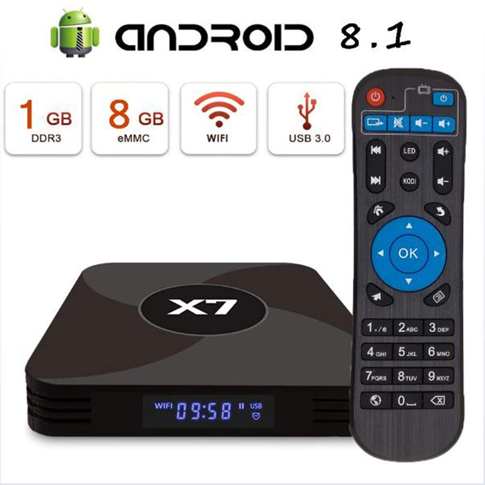 KGAYUC Android 8.1 TV Box [1G DDR3 + 8G EMMC] Hisilicon 3798M Quad-Core 64-bit/