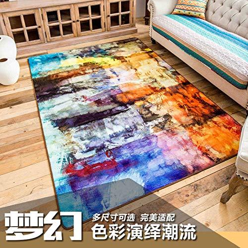 YSHUO tapijt moderne abstract korte bank salontafel retro slaapkamer woonkamer mat tapijt