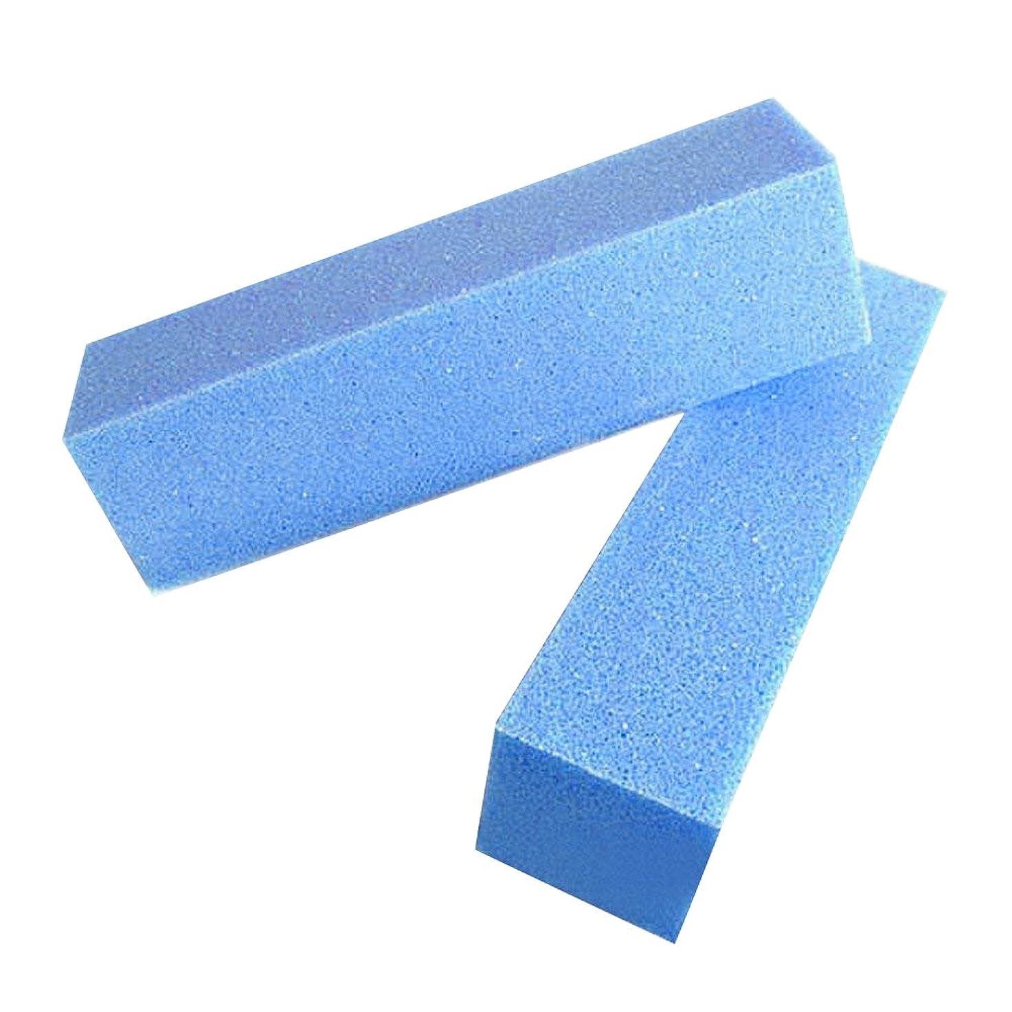 Pichidr ブロックバッファー ジェルネイルバッファー 4面可能 手入れ 爪磨き ネイル用品 ブルー 5本セット