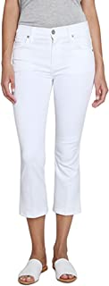 James Jeans Women's Mid-Rise Cropped Bootcut Jean in Crisp White