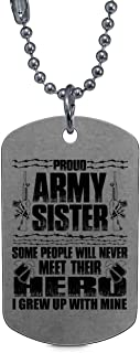 Great Army Sister Necklaces, Proud Army Sister Dog Tag