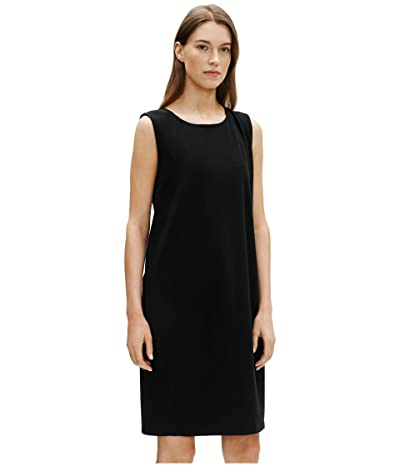 Eileen Fisher Jewel Neck Lantern Dress (Black) Women