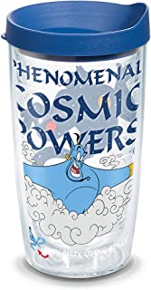 Tervis 1319682 Disney - Aladdin Genie Insulated Tumbler with Wrap and Lid, 16 oz, Clear