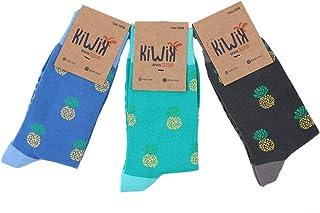 Kiwik, Pack de 3 calcetines unisex de algodón con divertidos estampados y diseños únicos.