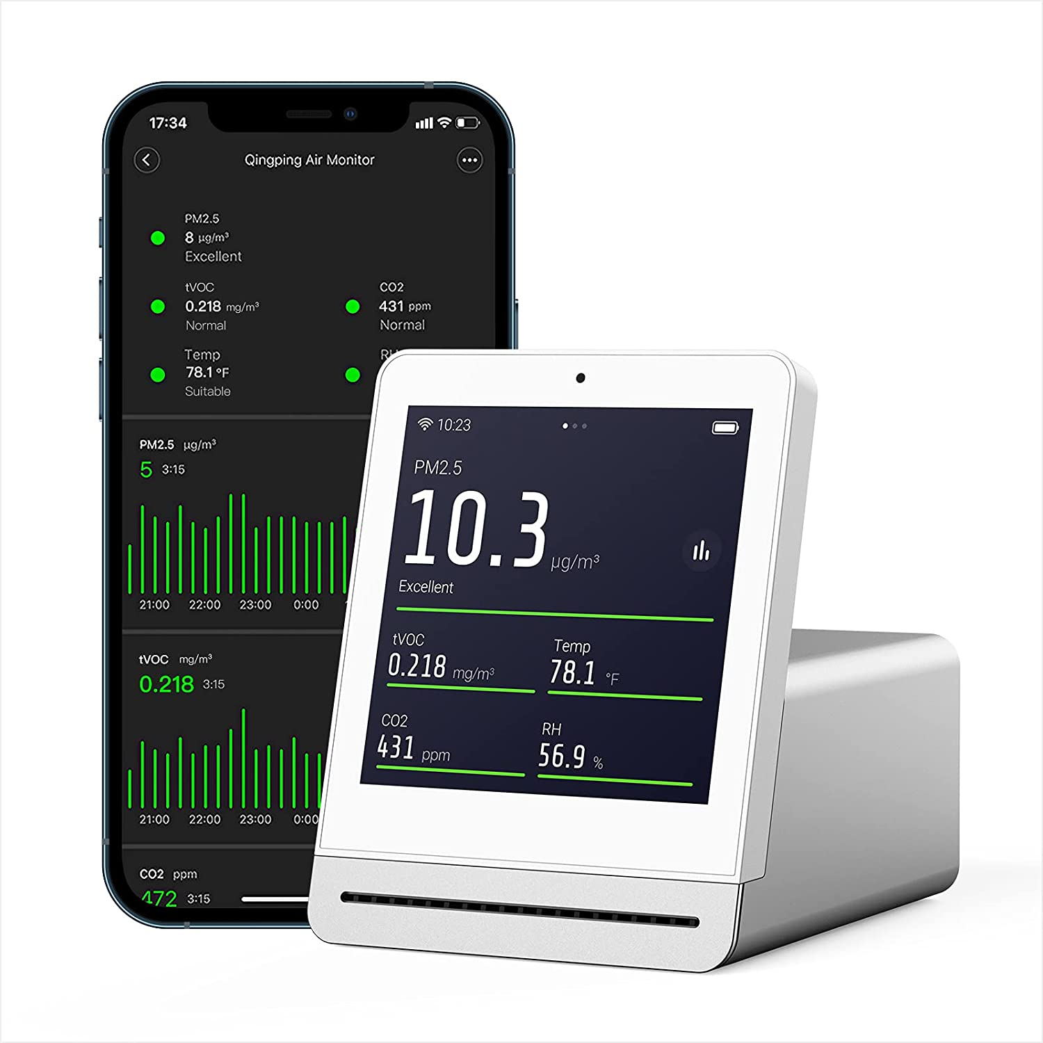 Choice Qingping Air Monitor Indoor Quality Meter CO Detects Ranking TOP9 PM2.5