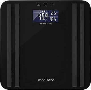 Medisana BS 465 Bilancia per l'Analisi del Corpo fino a 180 kg, Bilancia Personale per la Misurazione del Grasso Corporeo,...