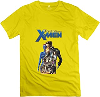 StaBe Men Wolverine And The X Men Logo T-Shirt 100% Cotton Retro XS Yellow