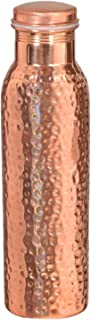 SKAVIJ 27-oz Pure Copper Joint Free Water Bottle with Lid Indian Pitcher for Ayurvedic Health Benefits