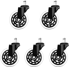 5PCS Office Chair Caster Wheel PU Caster Wheel Soft Safe Rollers Furniture Hardware Executive Chair Silence Wheel